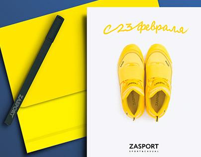 Greeting card for ZASPORT