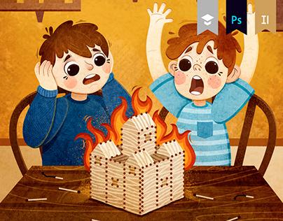 CLEVER. Children's book illustration.