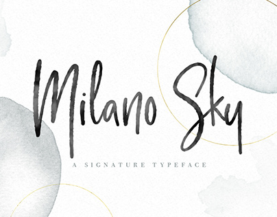 Milano Sky - A Signature handwritten Script Font