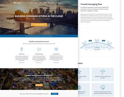 Telecom company landing page