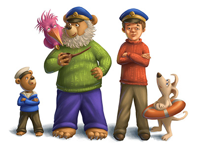 Main characters from A Boat Full of Friends