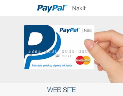 PayPal Nakit Card - Web Site