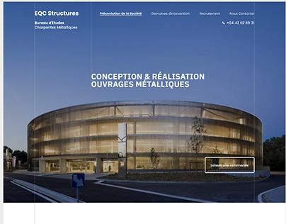 EQC Structures | UX/UI Design