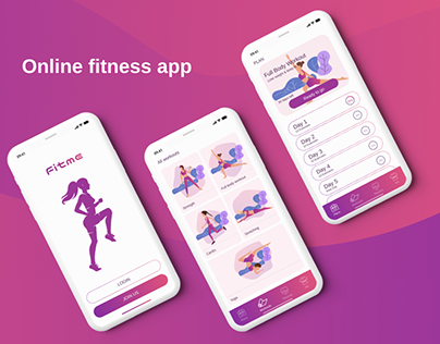 FitMe Fitness Mobile App UX/UI