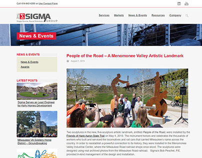 Wordpress Site - The Sigma Group