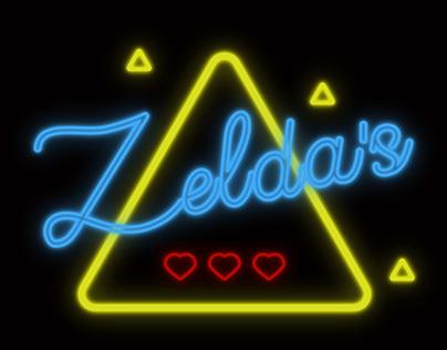 Neon Lights Sign for Zelda's Bar
