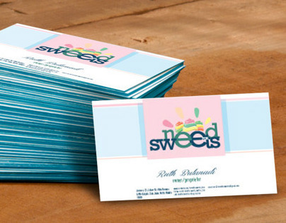 Need for Sweets Logo and Bizcards