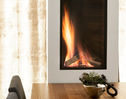 Clear Front Fireplace by Ortal USA