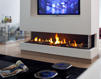 Clear TS Fireplace by Ortal USA