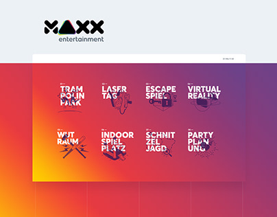 MAXX entertainment website redesign