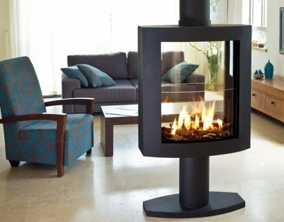 Stand Alone Fireplace by Ortal USA