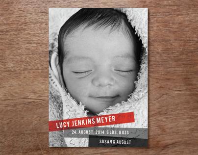 Lucy Birth Announcment