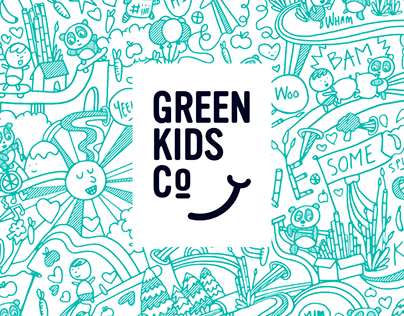 Green Kids Co. branding and packaging