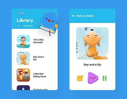 Audio-book app for kids