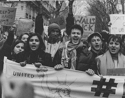 Paris: No Ban No Wall March 2.4.17 (35mm film)