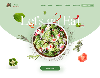 Landing page for Your Kitchen