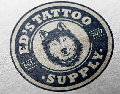 Branding para Logo Ed's Tattoo Supply (Chile)