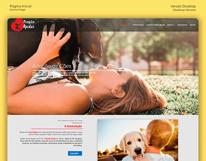 Website Redesign / Redesign de Site - Projeto Ajudei