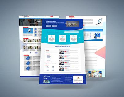 Thiết kế giao diện website Tâm Việt