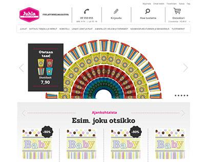 Juhlamaailma Magento eCommerce early designs