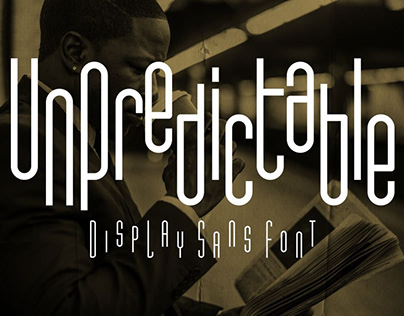Unpredictable – Display Sans Font