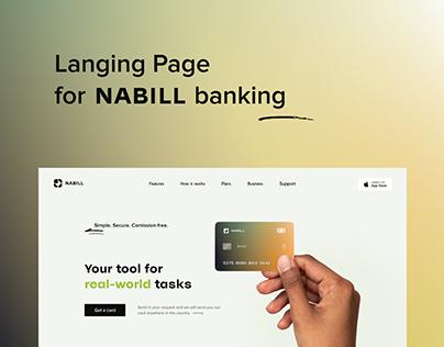 Landing Page. Nabill Banking App