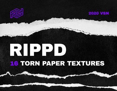 RIPPD / 16 Hi-Res Torn Paper Texture Pack + Bonus Files