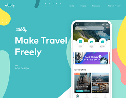 ebbly travel App design renewal