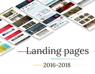 Landing pages '16 - '18