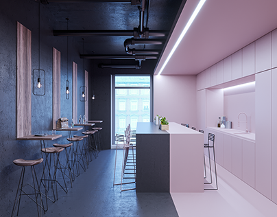 A concept of the art office in OFF Piotrkowska Center