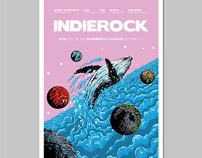 Indie Rock Vol. 7 Gig Poster