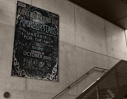 AGAINST BLEAK SKYLINES TOUR Poster Design