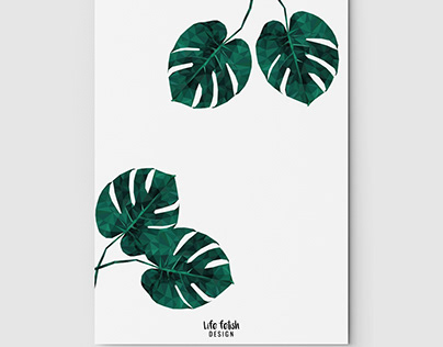 Monstera Low Poly