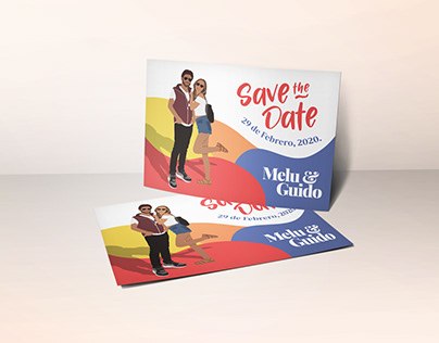 Wedding save the date ―Digital & Print