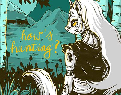 Good hunt - illustration for a Ken Liu short story