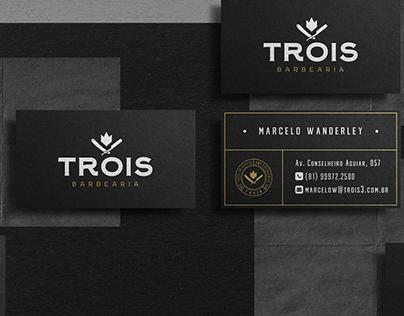 Trois Barbearia | Rebrand