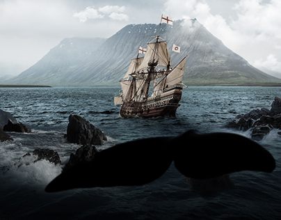 Spanish Galeon and the whale.