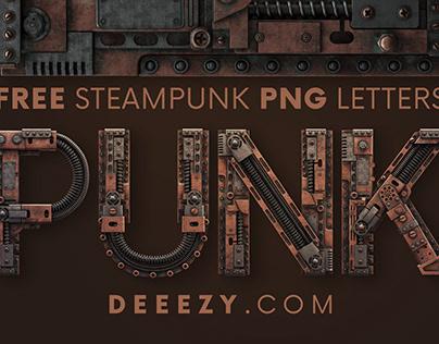 Free Steampunk 3D Lettering