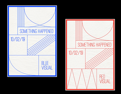 """""""Something happened"""" - Blue and Red visual"""