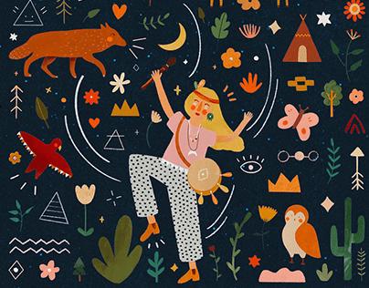 Les Confettis ║ Editorial illustrations