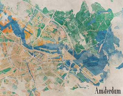 Amsterdam, the watercolor beauty