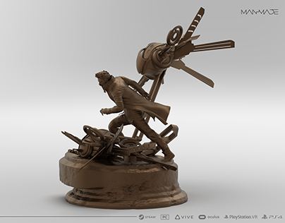 Kaan Premium Statue 3D Modelling for ManMade VR Game