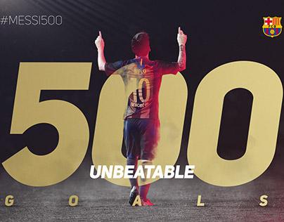 FC Barcelona - Messi 500 goals