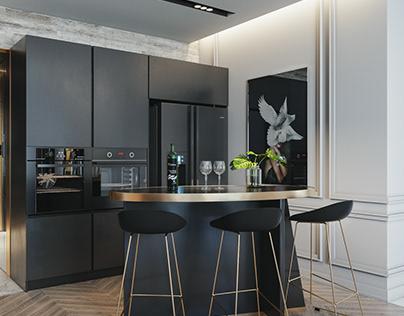 Apartment luxury grey