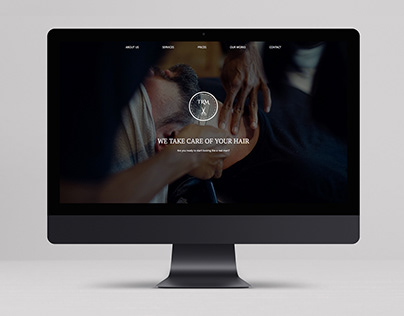 Barbershop website design template