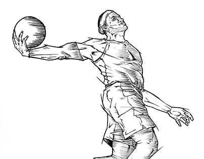 ATHLETES/HEROES - PEN ILLUSTRATIONS