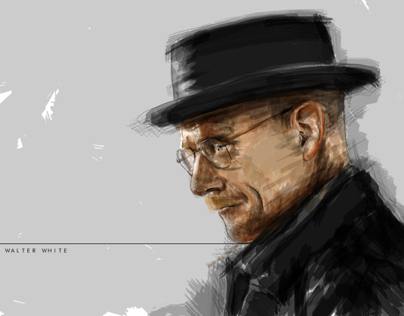Digital Illustration - Walter White - Breaking Bad