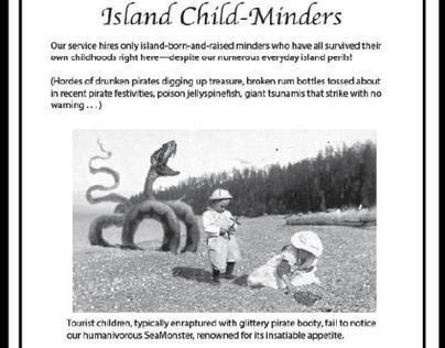 Advert (Fake): Island Child Minders