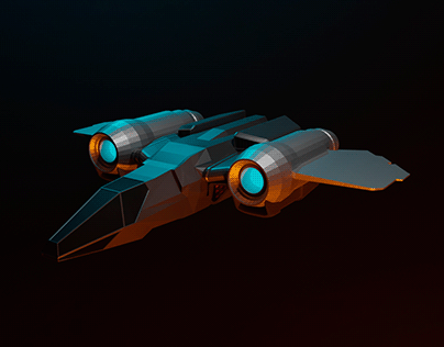 Low Poly Ship from Star Citizen