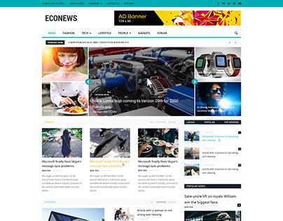 Econews - Newspaper Template Design